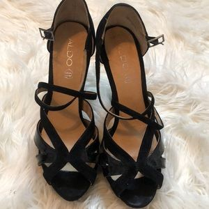 Strappy Black Aldo Heels
